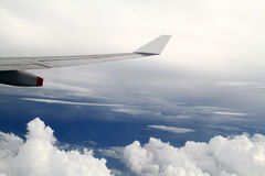 A view from a flight. Stock Photos