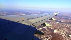 View flight plane window stock footage