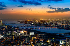 View from Floating Garden at Umeda Sky Building in Osaka Royalty Free Stock Photography