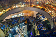 View from Floating Garden at Umeda Sky Building in Osaka Royalty Free Stock Images