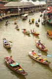 View of Floating market, Amphawa, Thailand Stock Photos