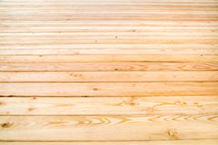 View of the floor of planed pine boards, perspective. Selective focus. royalty free stock photos