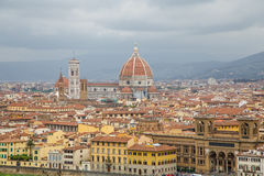 View of Florence from Above Royalty Free Stock Photography