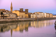 View of Florence and the arno river. Royalty Free Stock Image