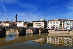 View of Florence and Arno River Royalty Free Stock Photo