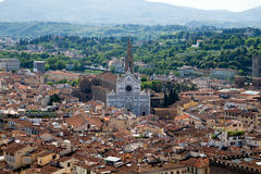 View of florence from bell tower on the  Piazza de Royalty Free Stock Image