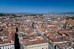 View of florence from bell tower on the  Piazza del Duomo Stock Image