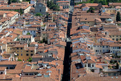 View of florence from bell tower on the  Piazza del Duomo Royalty Free Stock Photo