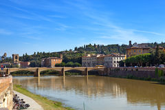 View of Florence. Bridge over the Arno River Stock Image