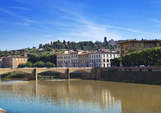 View of Florence. Bridge over the Arno River Stock Photo
