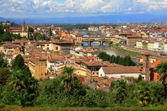 View of the Florence and bridge Ponte Vecchio in Italy Stock Photo