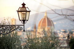 A view of Florence with Brunelleschi`s dome Stock Photos