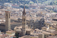 View of Florence from the campanile Giotto Stock Images