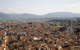 View of Florence from the campanile Giotto Royalty Free Stock Photo