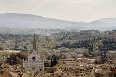View of Florence from the campanile Giotto Stock Photos