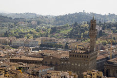 View of Florence from the campanile Giotto Royalty Free Stock Photos