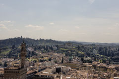 View of Florence from the campanile Giotto Stock Photo