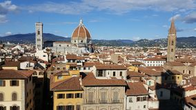 View on Florence Cathedral. View on the Florence Cathedral Basilica di Santa Maria del Fiore Stock Photography