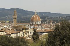 Beautiful view of Florence cathedral stock photo