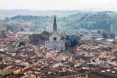View of Florence city with Basilica di Santa Croce Stock Photos