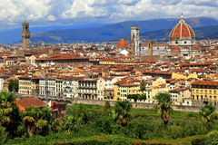 View on Florence city from the Piazzale Michelangelo in Italy Stock Photo