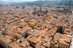 View of Florence cityscape. From the top of a tower Royalty Free Stock Image