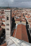 View of Florence from the coupole of the Duomo. The Cathedral of Florence Royalty Free Stock Photography