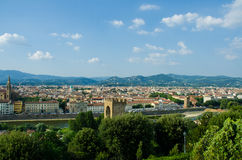 View of Florence during Royalty Free Stock Photography