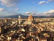 View of Florence Duomo from Arnolfo tower. royalty free stock photo