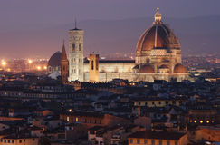 View on Florence Duomo at dusk Royalty Free Stock Images