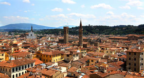View of Florence with the Duomo Stock Images