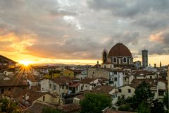 Florence in the morning stock photography