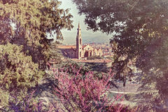 View of Florence, effect vintage film Royalty Free Stock Photography