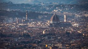 View of Florence from Fiesole royalty free stock photography