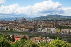 View of Florence, Italy. Royalty Free Stock Photos