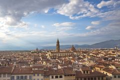 View of Florence, Italy, Europe. Florence, view from Pitti Palace museum, Italy, Europe Royalty Free Stock Photos