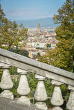 View of Florence with a marble railing Royalty Free Stock Images