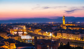 View of Florence from Michelangelo's hill Royalty Free Stock Photos