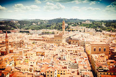 View of Florence old city center Royalty Free Stock Images