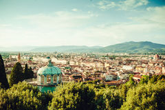 View of Florence old city center Royalty Free Stock Photos