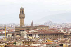 View of Florence with Palazzo del Bargello,Tuscany, Italy Stock Photo