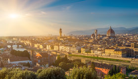 View of Florence, Ponte Vecchio and Duomo. Italy Stock Photography