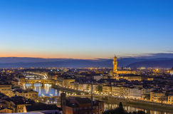 View of Florence with Ponte Vecchio, Italy Royalty Free Stock Photography