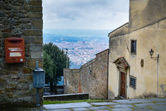 View of Florence from the San Francesco monastery, Fiesole (II) Royalty Free Stock Photo