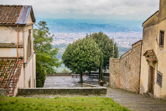 View of Florence from the San Francesco monastery, Fiesole Royalty Free Stock Image