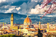 View on Florence at spring Stock Photo