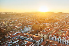 View of Florence at sunset, Italy. Royalty Free Stock Images