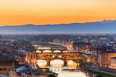 View of Florence at sunset royalty free stock image