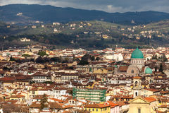 View Of Florence With Synagogue Royalty Free Stock Photo