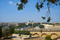 The view of Floriana from the Upper Barrakka Gardens in Valletta Stock Photography